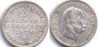 2 1/2 гроша 1870 Ag